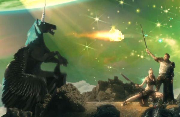 schwarzer Einhorn Pegasus