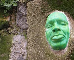 grünes gesicht