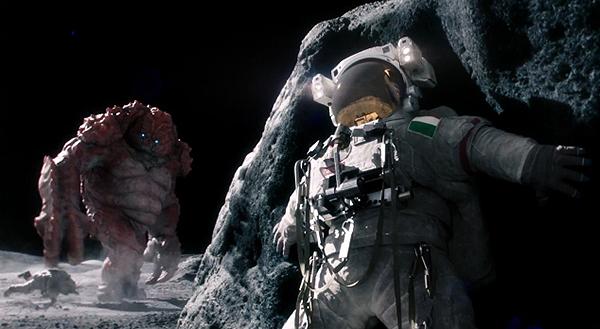 space monster auf dem mond