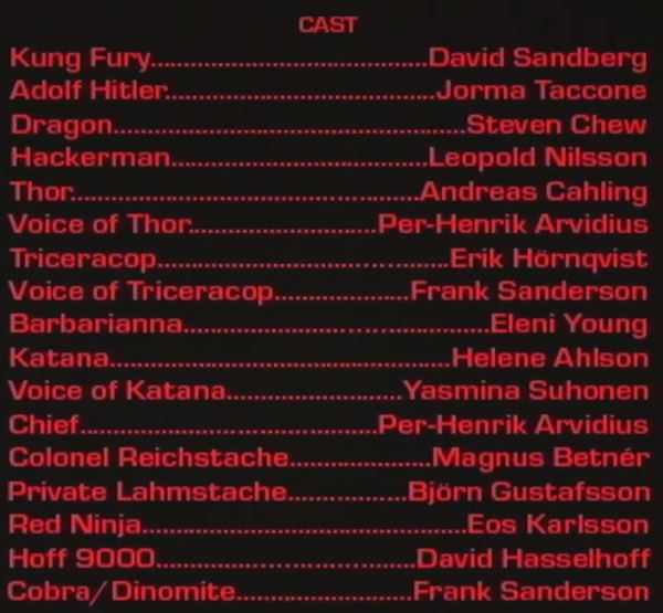 cast of kung fury