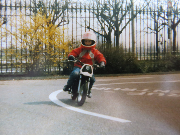 thilo auf moped