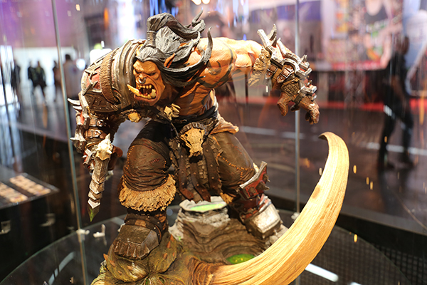 wow orc statue