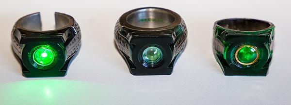 green lantern ringe von oben