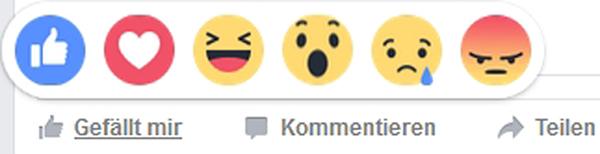 neue facebook like emojis