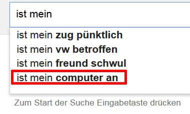 ist mein computer an
