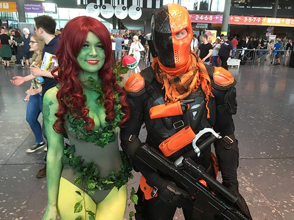 poison ivy und Deathstroke cosplay